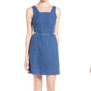 Madewell Denim Cut Out Mini Dress